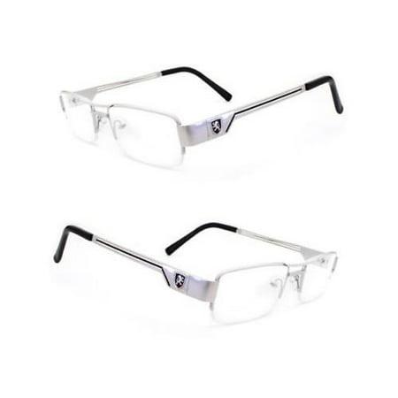 Fashion Retro Unisex Mens Womens Clear Lens Nerd Geek Glasses Eyewear Slvr Black