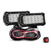product image nilight zh008 2pcs 6 5 inch 36w flood bar led work driving  light with off road wiring