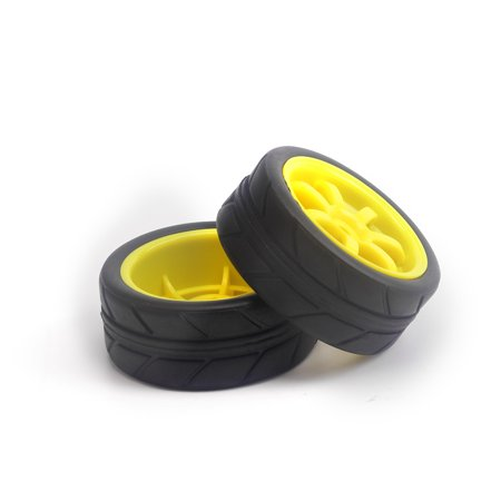 Hight Quality 2PCS 1/10 1:10 Rubber Tire Tyres Wheels For HSP Kyosho TAMIYA 3racing Racing Car