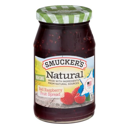Smuckers Natural Red Raspberry Fruit Spread  17 25 Oz