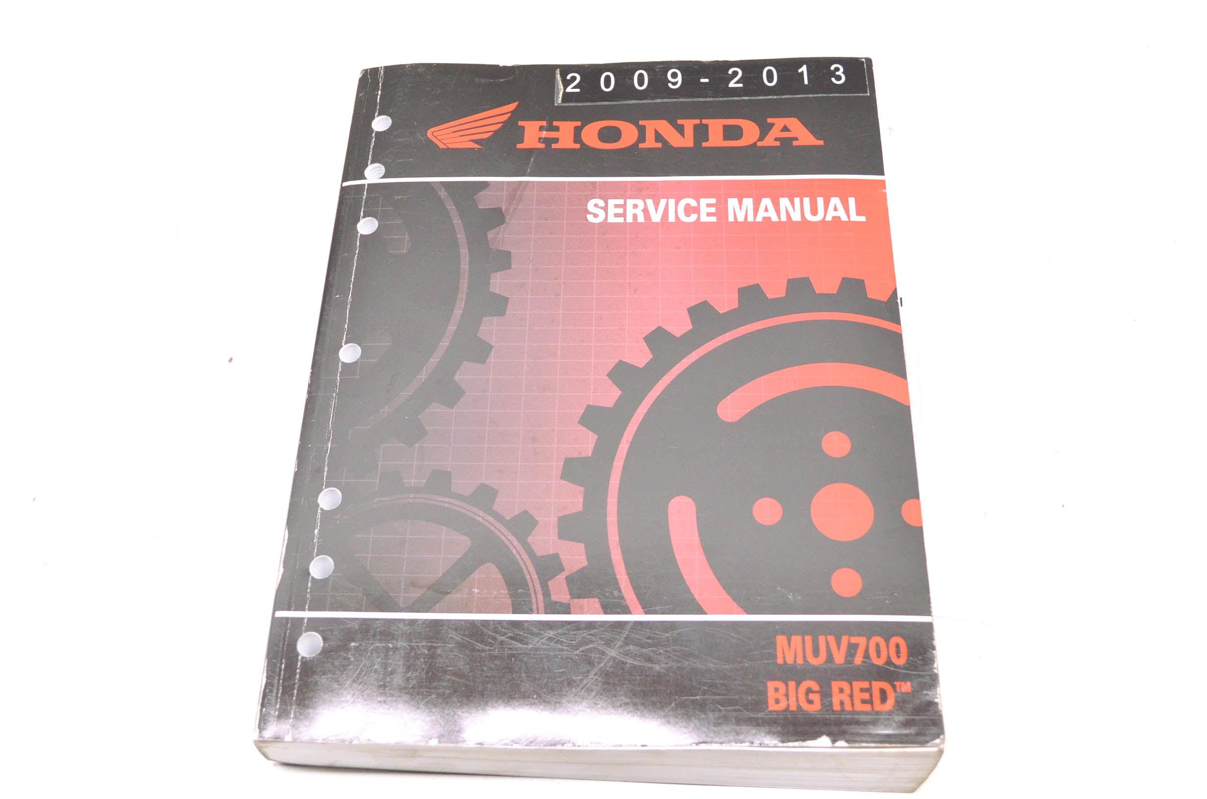 Honda 61HL104 2009-2013 MUV700 Big Red Service Manual QTY 1 - Walmart.com