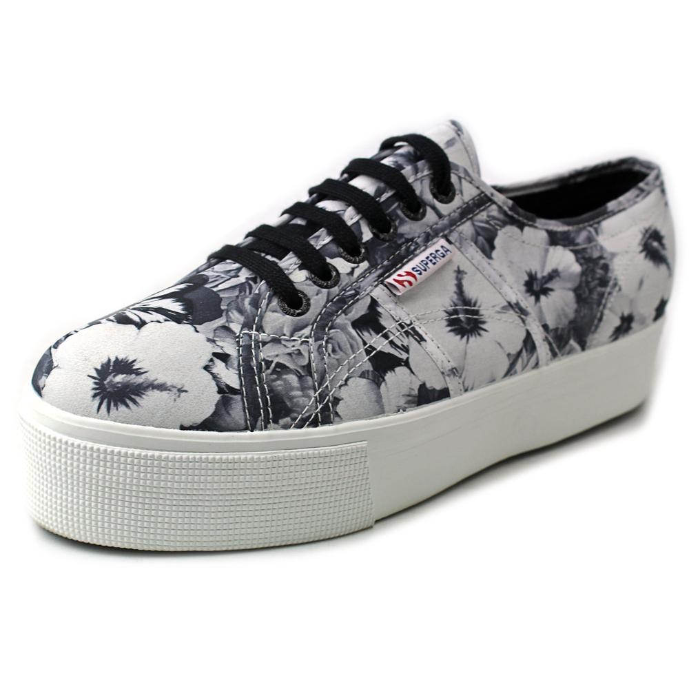 Womens Superga 2790 Annabella Platform Fashion Sneakers - Black/White
