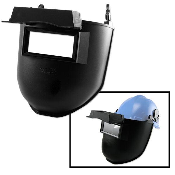 "Neiko Flip Up Welding Mask for Hard Hat Up 2"" x 4-1/4"" Inch Welding Screen"