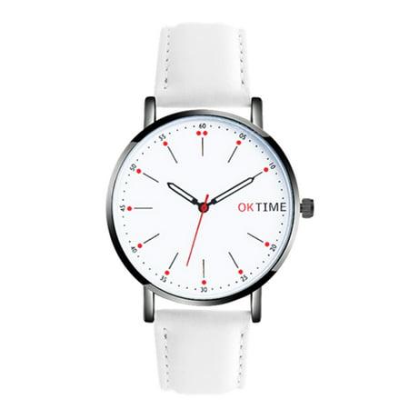 Fashion Ultra Simple Couple Quartz Watch Casual Elegant Unisex Analog