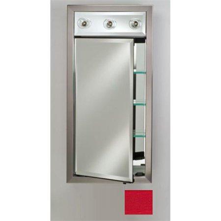 Afina Corporation SD-LC1740RCOLRD 17x40 Contemporary Integral Lighted Single Door - Colorgrain -