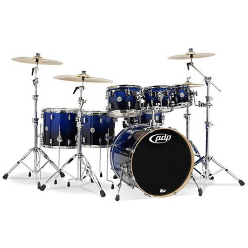 Pacific PDP Concept Maple 7-Piece Shell Pack w/ Chrome Hardware - Blue Sparkle