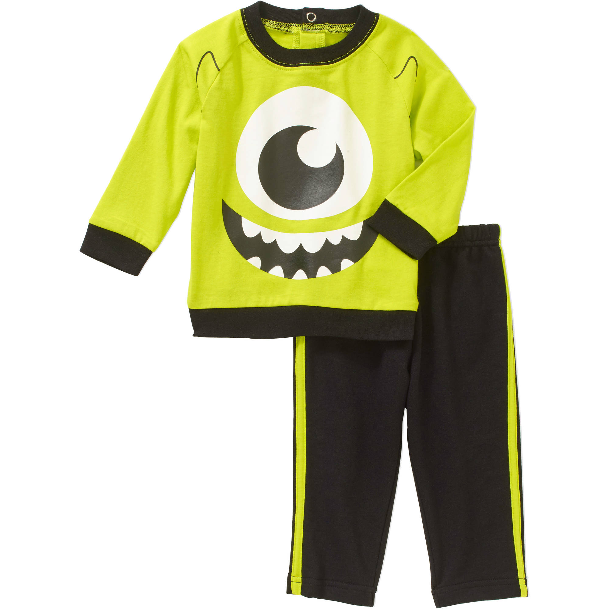 Monsters Inc. Newborn Baby Boys' French Terry Top and Jersey Pants Outfit Set