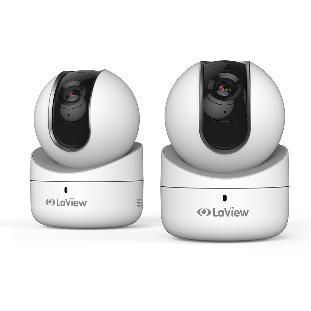 LaView HD 1080P WiFi Security Camera W/ Pre- Installed 16 GB 360 Pan/Tilt, Two Way Audio, Baby Monitor(2 Pack)