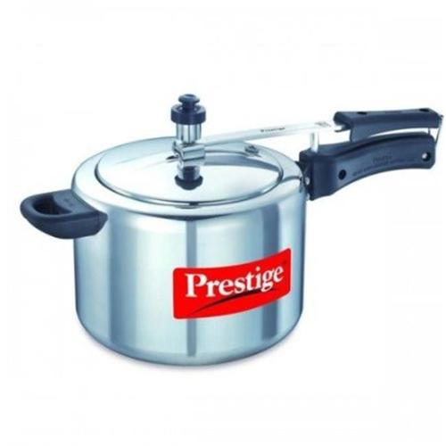 Prestige PRNPC3 Small Nakshatra Plus Flat Base Aluminum Pressure Cooker for Gas and Induction Stove Silver - 3 Litres