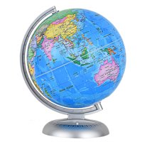 Costway 8'' Illuminated World Globe Up-to-date W/ Stand Built-in LED Night View Kids