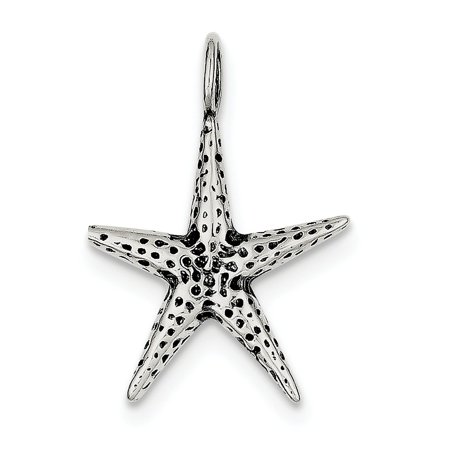 Roy Rose Jewelry Sterling Silver Antiqued Starfish Pendant