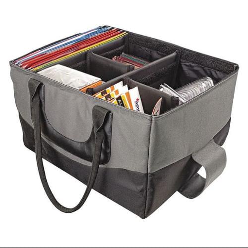 AUTOEXEC 14000 File Tote Bag,Gray/Black,600D Nylon G9555244