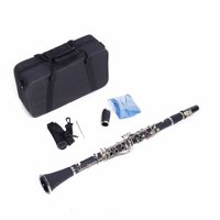 Hard Bakelite Mid-range Flat B Tone Clarinet Case Cleaning Cloth Screwdriver Lubricant Set
