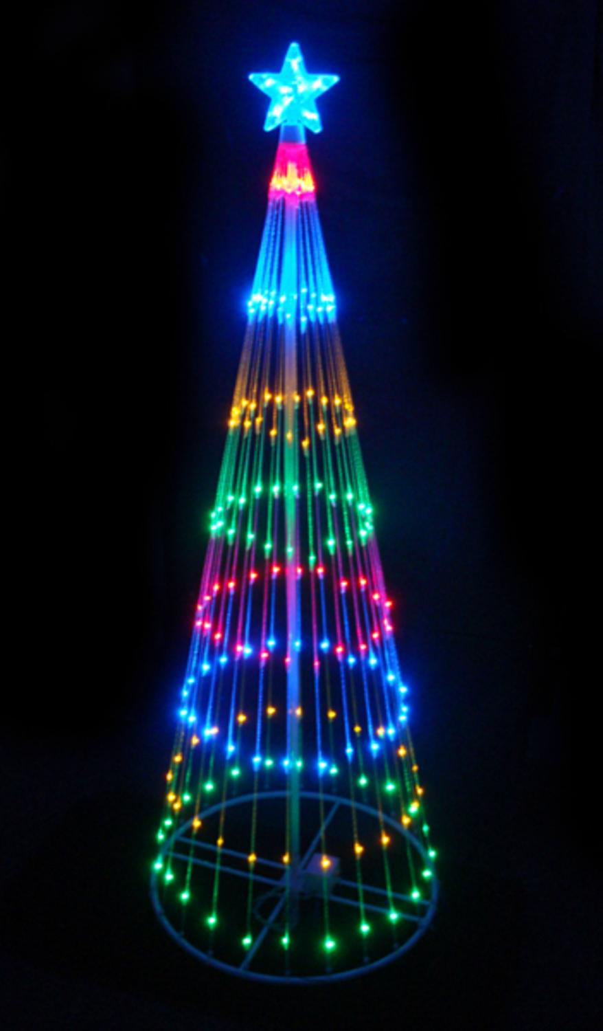 4' Multi-Color LED Light Show Cone Christmas Tree Lighted Yard Art ...