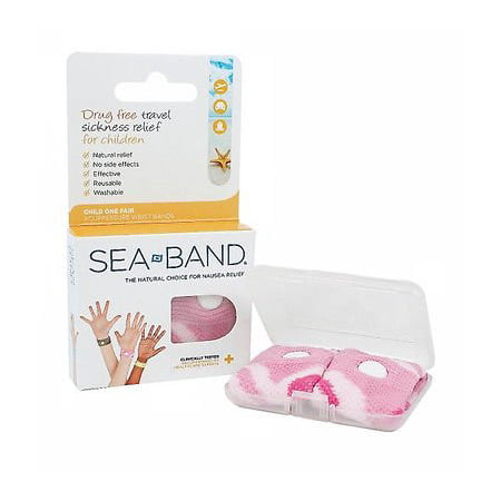 Sea-Band For Children Wristband 1 Pair Pink (Sea Band Ginger Gum)