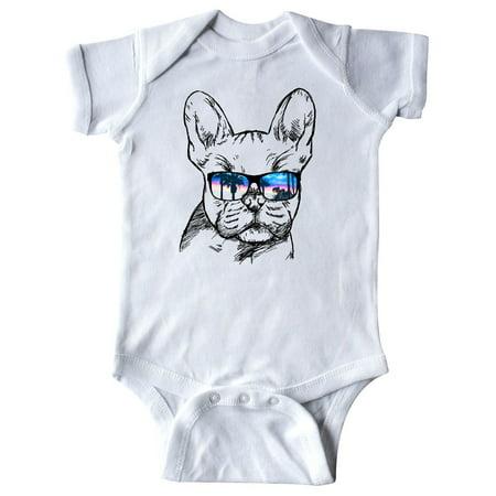 French Bulldog Portrait With Sungles Infant Creeper