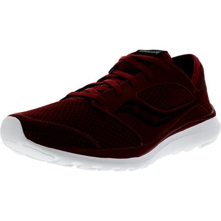 Saucony Men's Kineta Relay Crimson / Black Ankle-High Running Shoe - (Best Saucony Running Shoes For Neutral Runners)