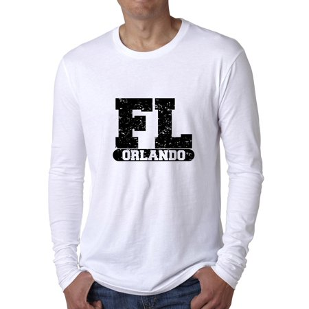 Orlando, Florida FL Classic City State Sign Men's Long Sleeve T-Shirt - Party City In Orlando Fl