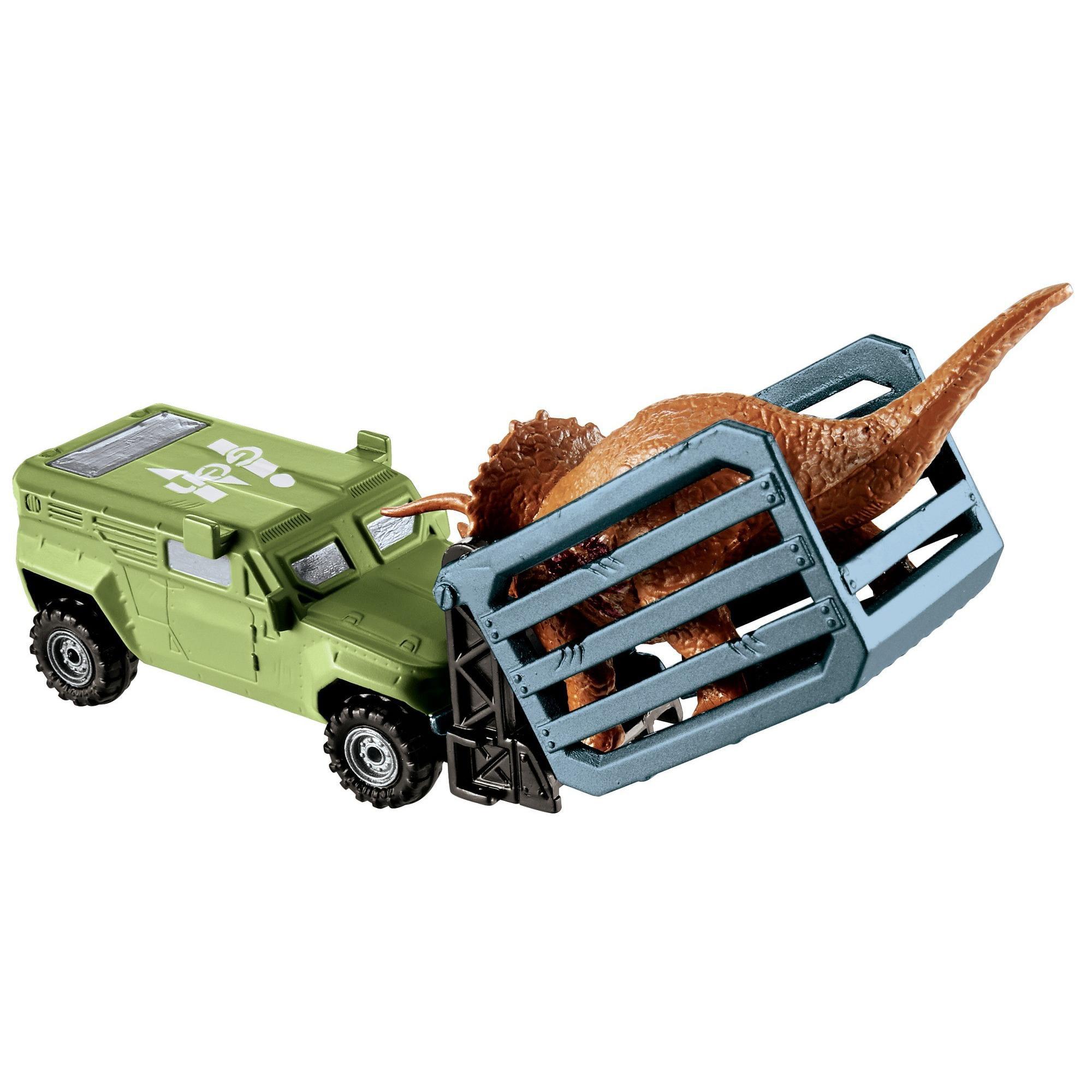 Matchbox Jurassic World Dino Transporters Tricera-tracker Vehicle and Figure by Mattel