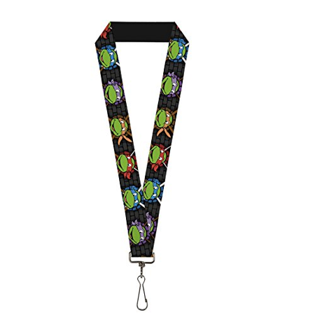 Classic TMNT Lanyard - Expessions/Battle Gear Gray/Multi Color](Ninja Turtles Names And Color)
