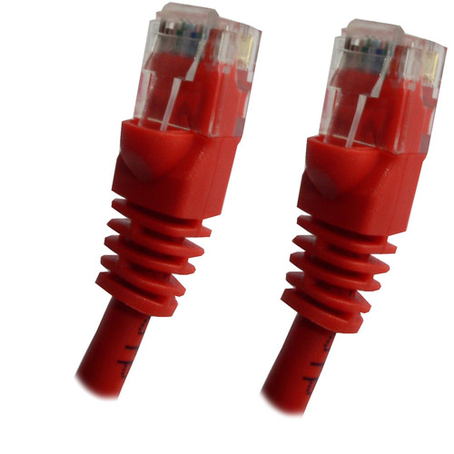 Professional Cable Category 5E Ethernet Network Patch Cable with Molded Snagless Boot, 25', Assorted Colors