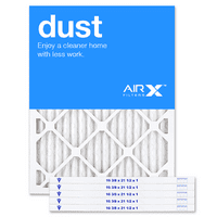 AIRx Filters Dust 16.5x21.5x1 Air Filter MERV 8 AC Furnace Pleated Air Filter Replacement Box of 6, Made in the USA