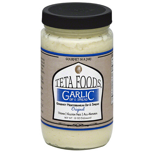 Teta Foods Original Garlic Dip & Spread, 12 oz, (Pack of 12)