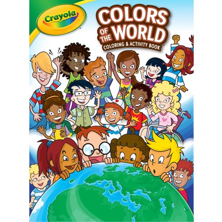 Crayola Colors of the World Coloring Book Child, Boys Girls Ages 3+