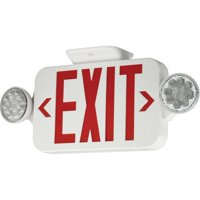 Progress Lighting PE010 LED Exit Sign with Red Letters and Integral Emergency Ba