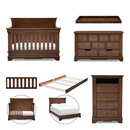 Simmons Kids Tivoli 6-Piece Nursery Furniture Set (Convertible Crib,  Dresser, Chest - Simmons Kids Tivoli 6-Piece Nursery Furniture Set (Convertible Crib
