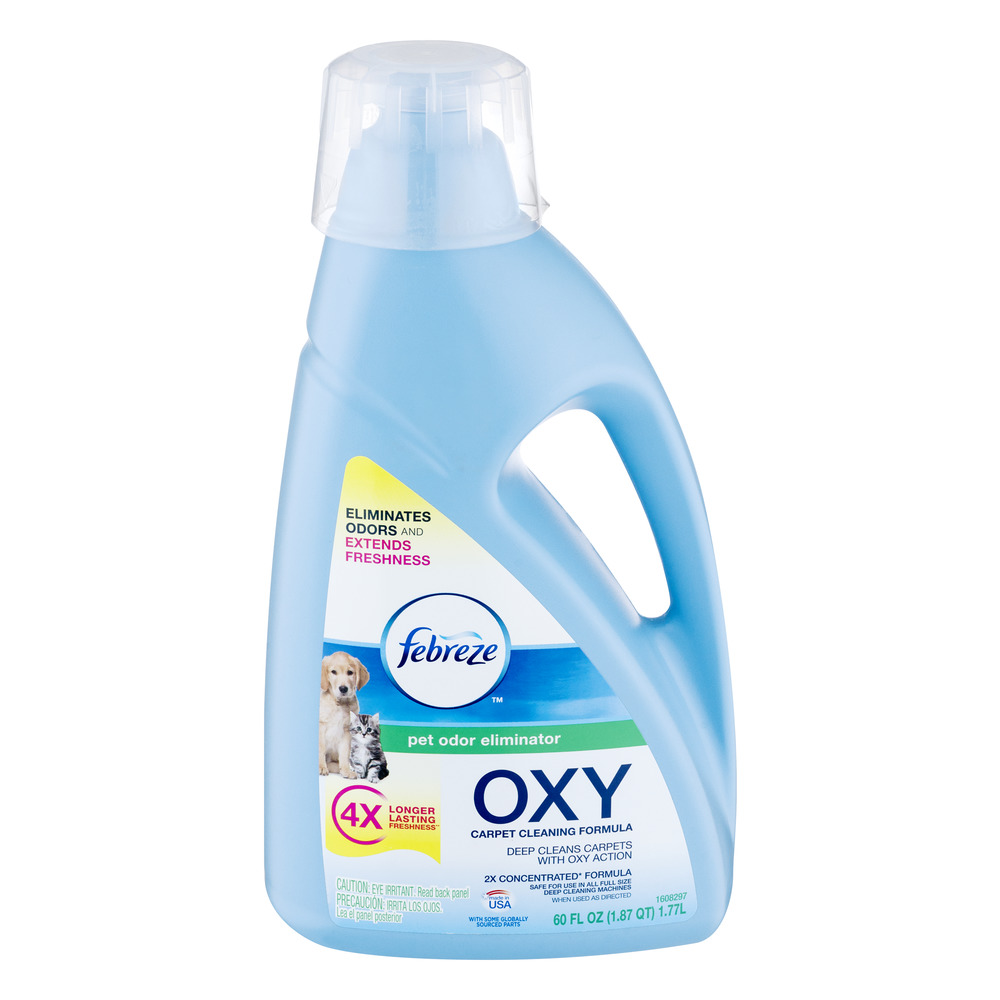 febreze pet odor eliminator oxy formula for full size carpet cleaners 60 oz