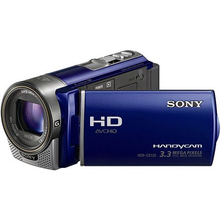 "Sony Handycam HDR-CX130 Blue, 60p Full HD Camcorder, 30x Optical Zoom, 3"" LCD"