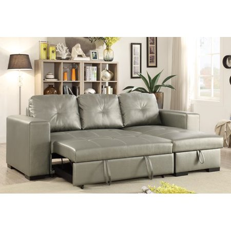 Excellent Ivy Bronx Buchman Linen Like Reversible Sectional With Pull Out Bed Frankydiablos Diy Chair Ideas Frankydiabloscom