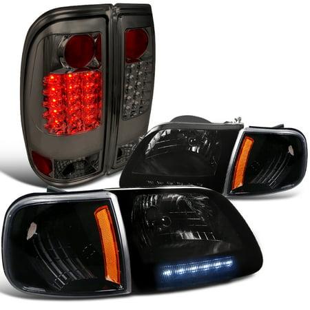 Spec-D Tuning For 1997-2003 Ford F150 Euro Smoke Headlight W/ Corner Light + Led Rear Tail Lamp (Left+Right) Ford Contour Corner Light