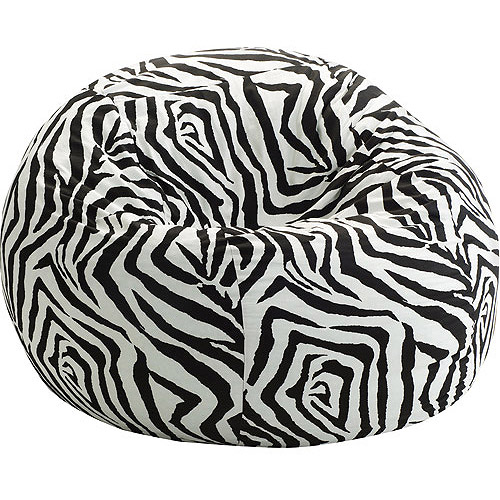 Small 3' Fuf Bean Bag Chair, Multiple Prints