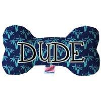 Dude 6 Inch Fluffy Bone Dog Toy