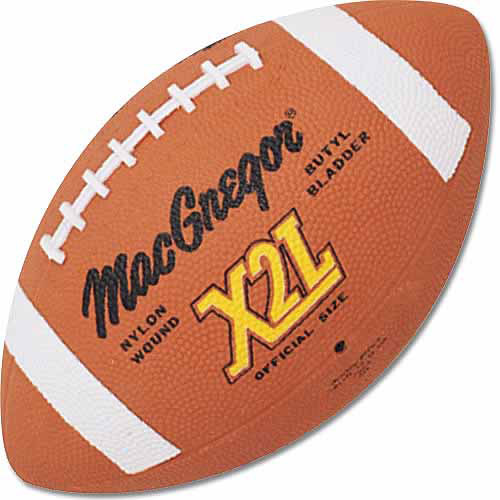 MacGregor® Official Size X2L Rubber Football