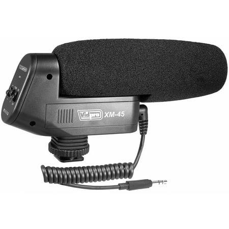 Vidpro XM-45 Professional Condenser Shotgun Video Microphone Includes Furry Windscreen, Foam Windshield & (Shotgun Microphone Windscreen)