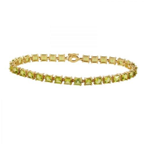 Foreli 10.5CTW Peridot 10k Yellow Gold Bracelet by Generic