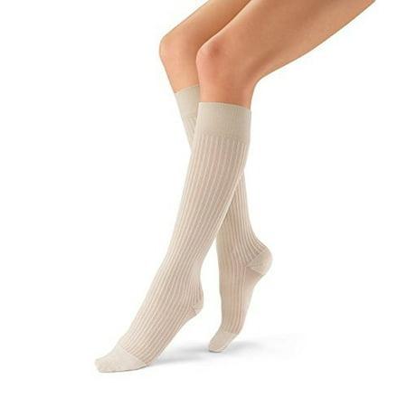 Jobst soSoft Knee High 8-15 mmHg SM (Ribbed) Black
