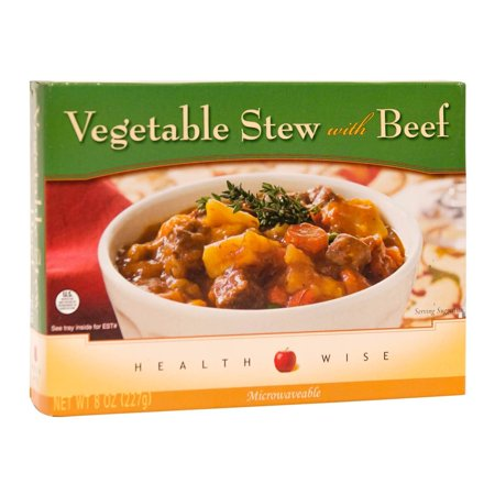 HealthSmart - High Protein Single Serving Entrée - Shelf Stable - Vegetable Stew with Beef - 14g Protein - Low Calorie - Low Fat - Lactose & Dairy Free - 1 (Best Low Calorie Frozen Meals)