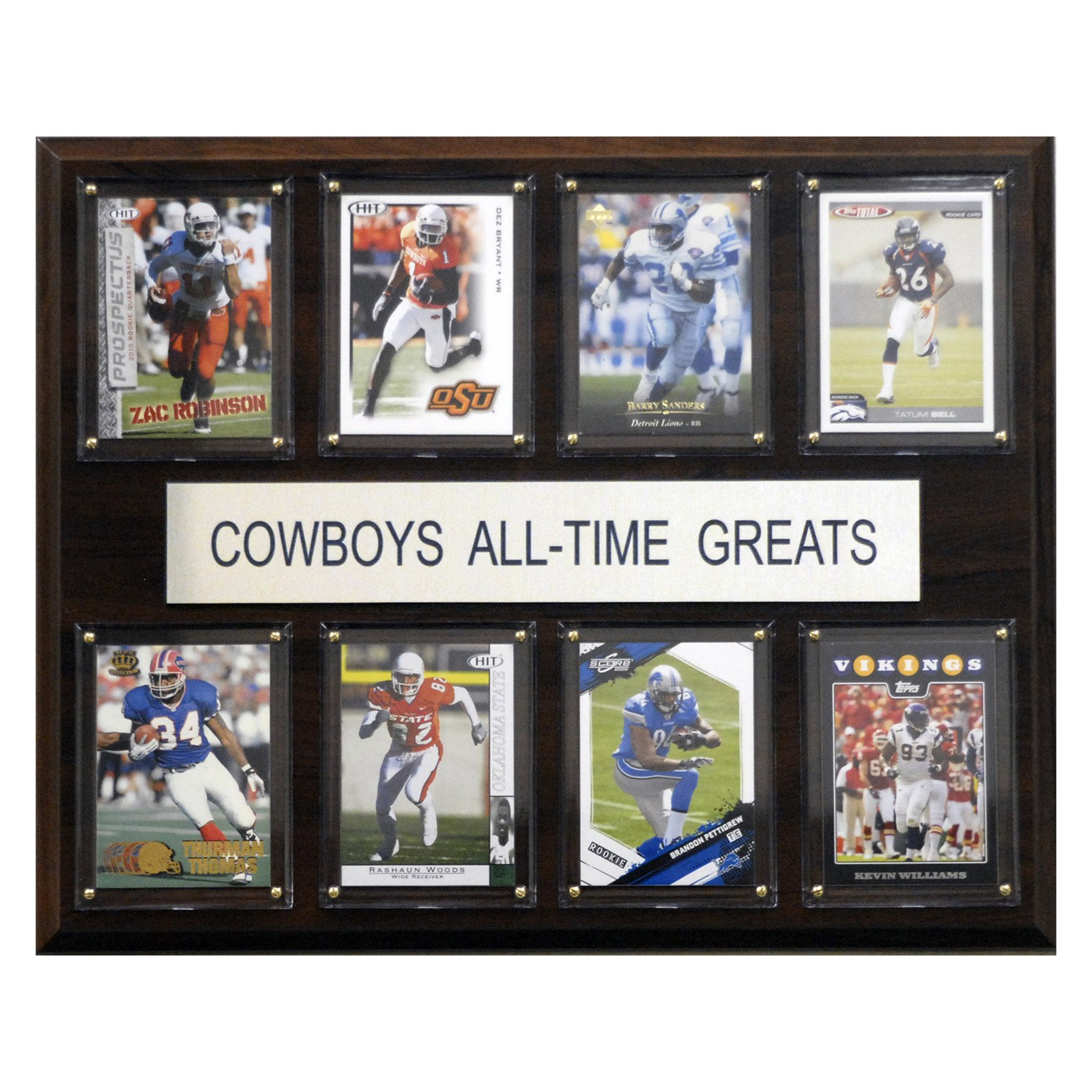 C&I Collectables NCAA Football 12x15 Oklahoma State Cowboys All-Time Greats Plaque