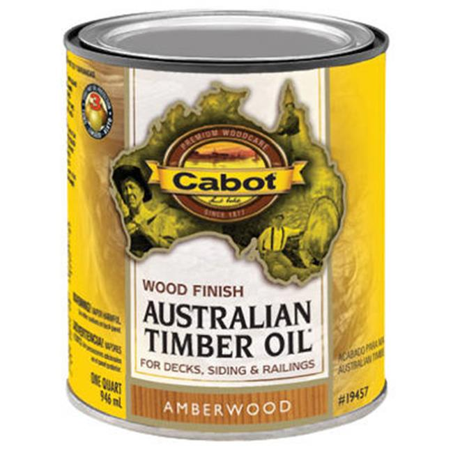 Cabot Samuel 19457-05 Australian Timber Oil, QT, Amberwood, Wood Finish