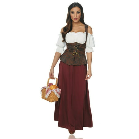 Women's Peasant Lady Halloween Costume