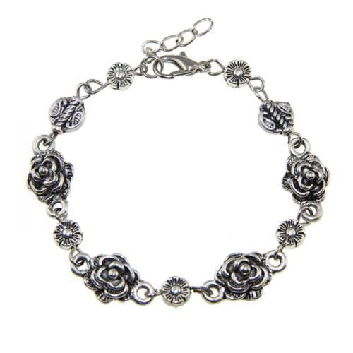 Zenses Tibetan Silver Rose Bracelet (China)