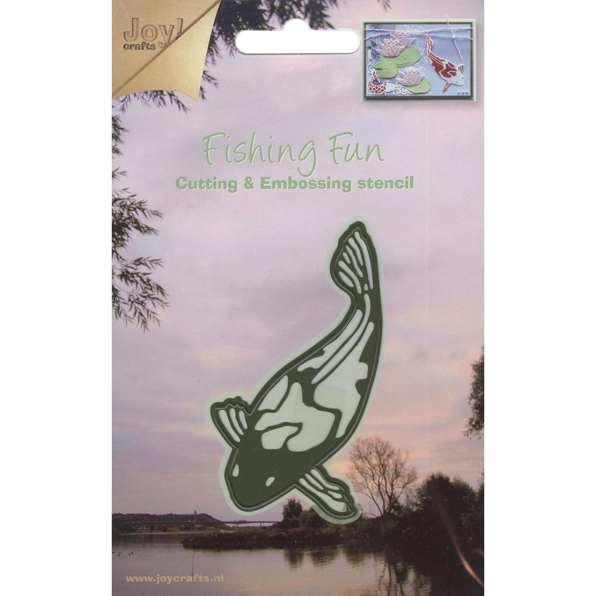 "Joy! Crafts Cut & Emboss Die -Fishing Fun Koi Fish, 1.5""X3.125"""