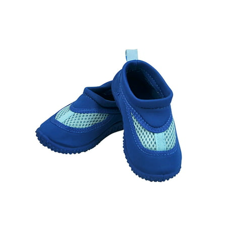 (Iplay Baby Boys Sand and Water Swim Shoes Kids Aqua Socks for Babies, Infants, Toddlers, and Children Royal Blue Size 4 / Zapatos De Agua)