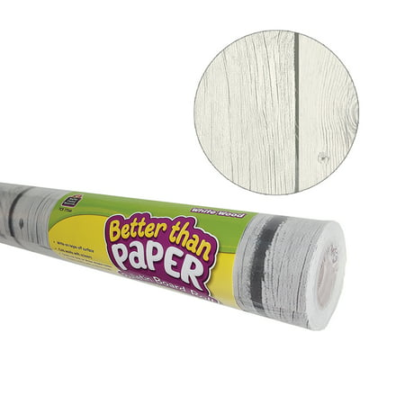 Better Than Paper Bulletin Board Roll, 4' x 12', White Wood, 4 Rolls](White Bulletin Board)