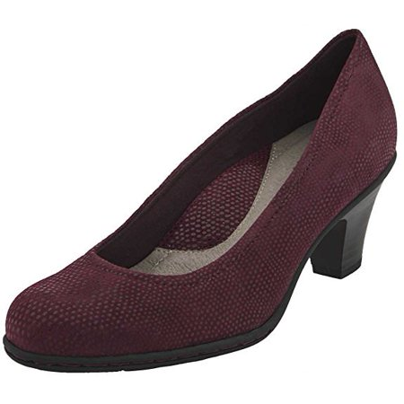 Earth BIJOU Womens Burgundy Printed Suede Heel Pump Shoes