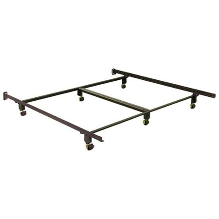 california king size bed frame w 6 rug rollers center support - California King Size Bed Frame
